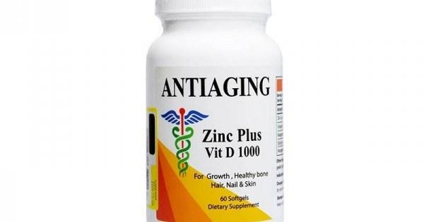 تصویر سافت ژل زینک پلاس ویتامین دی 1000 آنتی ای جینگ ا Antiaging Zinc Plus Vit D 1000 Softgel Antiaging Zinc Plus Vit D 1000 Softgel