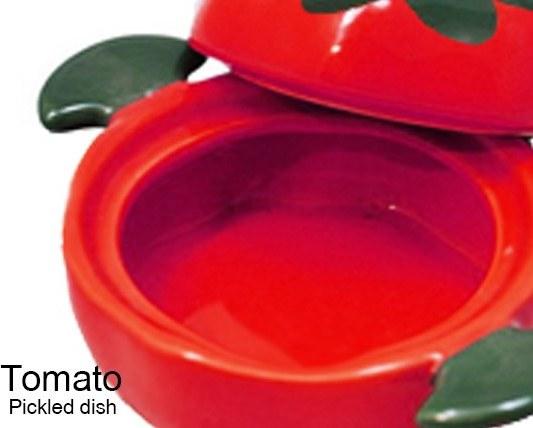 ظرف ترشی خوری طرح گوجه فرنگی