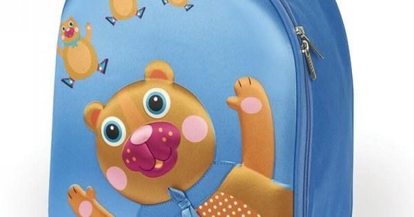 عکس چمدان چرخ دار کودک اوپس Oops مدل ترولی طرح خرس رنگ آبی  چمدان-چرخ-دار-کودک-اوپس-oops-مدل-ترولی-طرح-خرس-رنگ-ابی