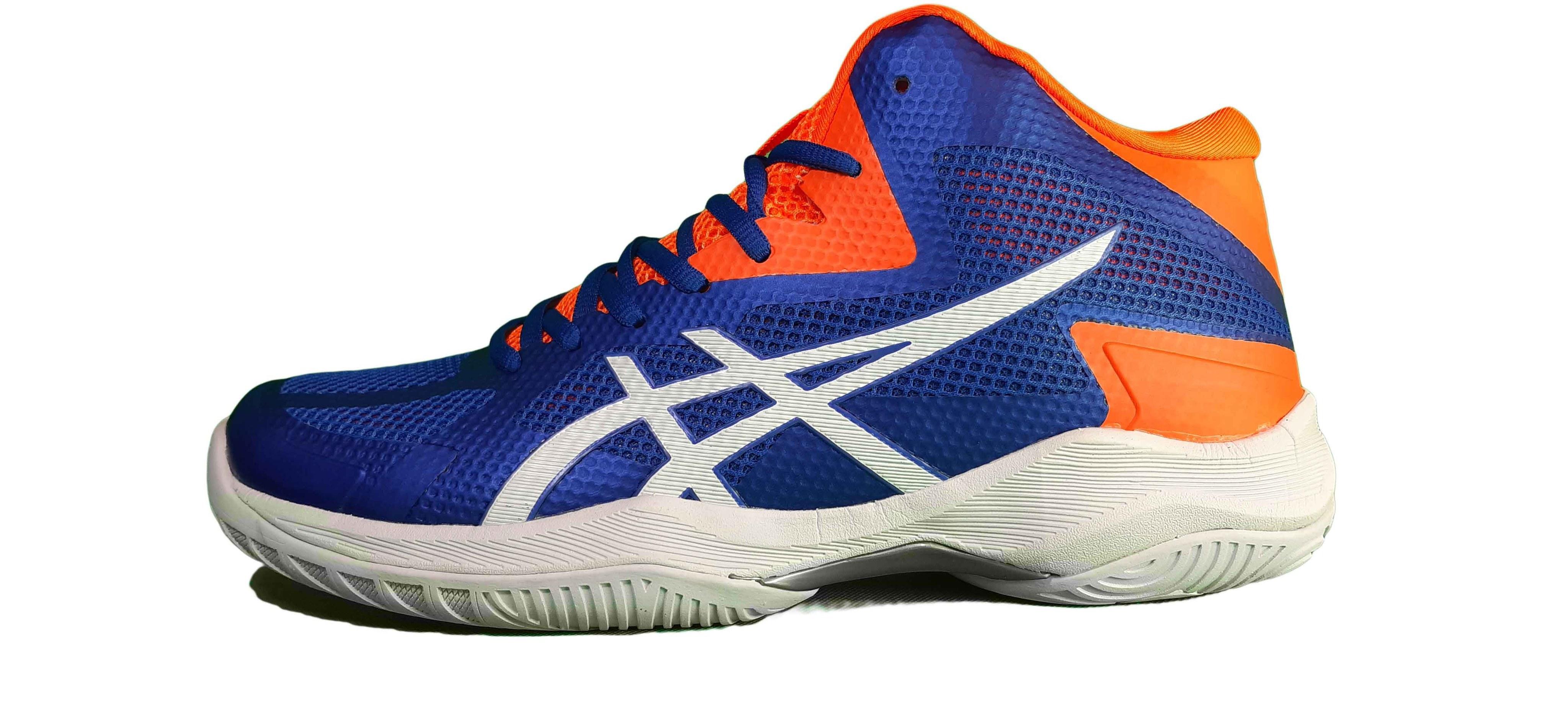 کفش والیبال آسیکس مدل V SWIFT FF MT BLUE/ORANGE