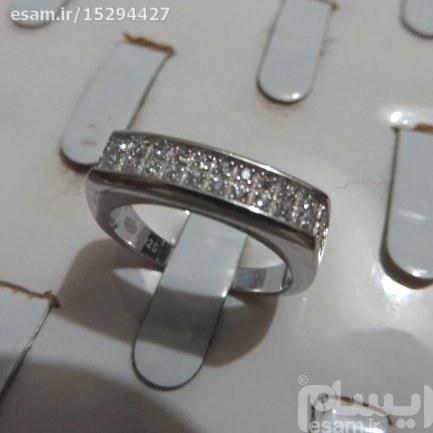 انگشتر اسپرت نقره میکرو تایلندی درجه1 بانگین کوارتز سنتزی سایزانگشتر6بسیار ظریف و زیبا | انگشتر حلقه زنانه نقره بانگین کوارتز 2.67g