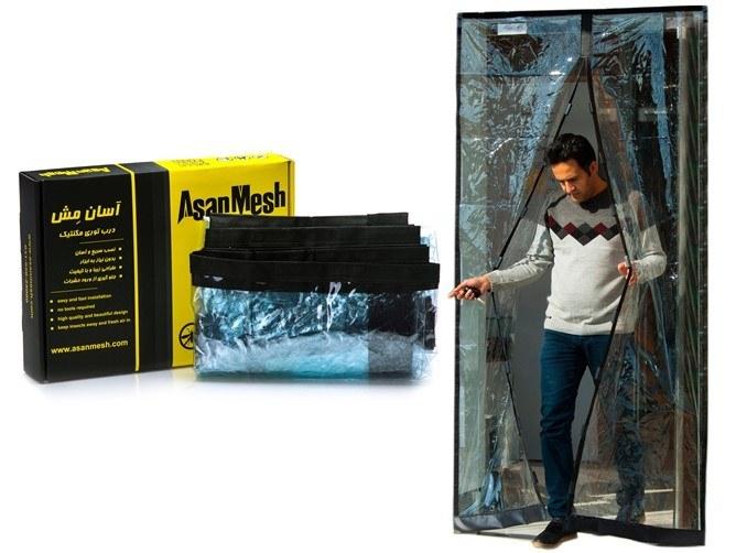 تصویر پلاستیک مگنتیک درب ورودی عرض 180 سانتی Asan Mesh Magnetic Screen Door 180cm