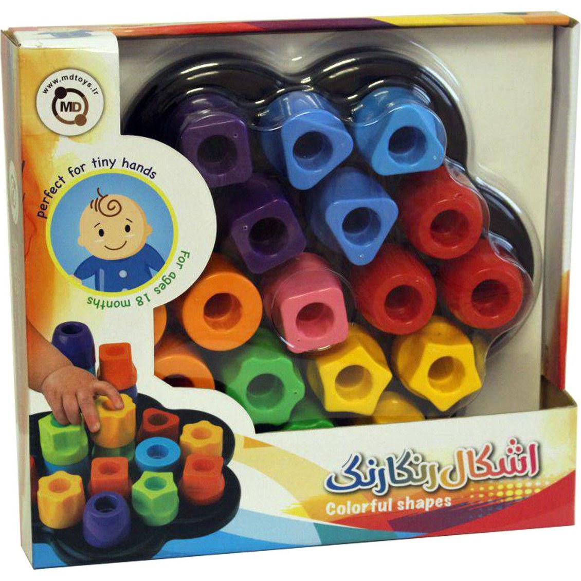 بازی فکری ام دی تویز MD Toys Intellectual Game Model Colourful Forms