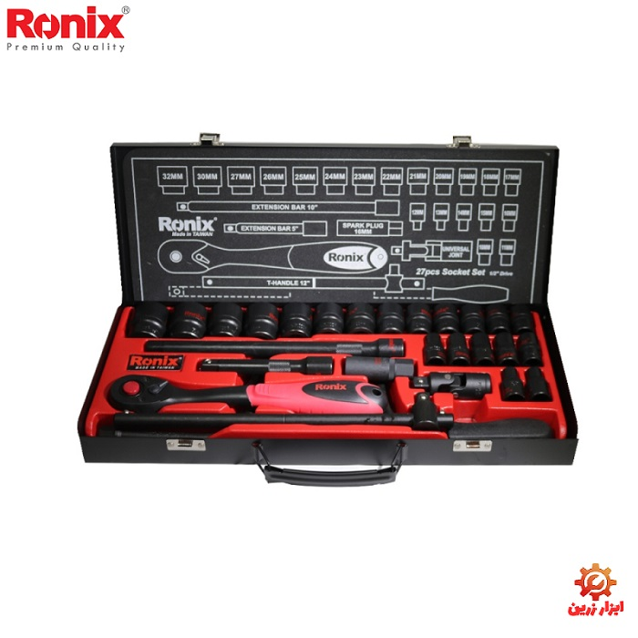 تصویر مجموعه 27 عددی آچار بکس و سری بکس رونیکس مدل RH-2627 ا Ronix RH-2627  Ratchet Wrench And Screwdriver 27 Pcs Ronix RH-2627  Ratchet Wrench And Screwdriver 27 Pcs