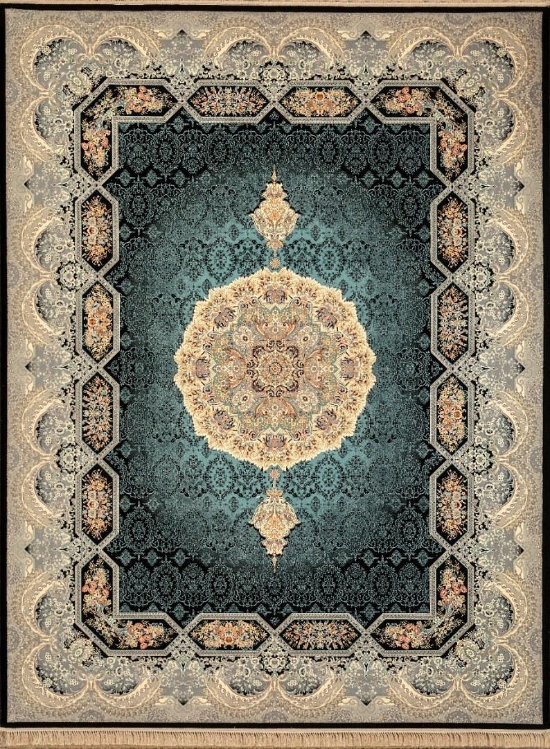 تصویر فرش ماشینی شاهکار کد ۱۲۴۵ مشکی