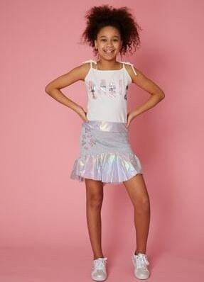 تصویر دامن دخترانه فانتزی برند Little Star رنگ نقره ای کد ty101767109