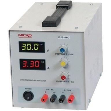تصویر منبع تغذیه متغیر 0 تا 30 ولت 3 آمپر مدل  MICRO PS-90