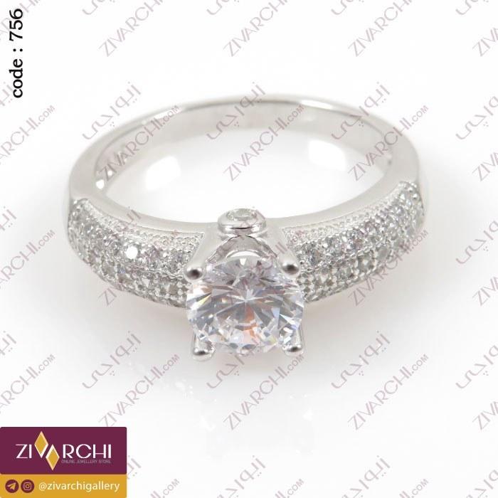 عکس انگشتر نقره 756 Sterling Silver Crystal Ring انگشتر-نقره-756