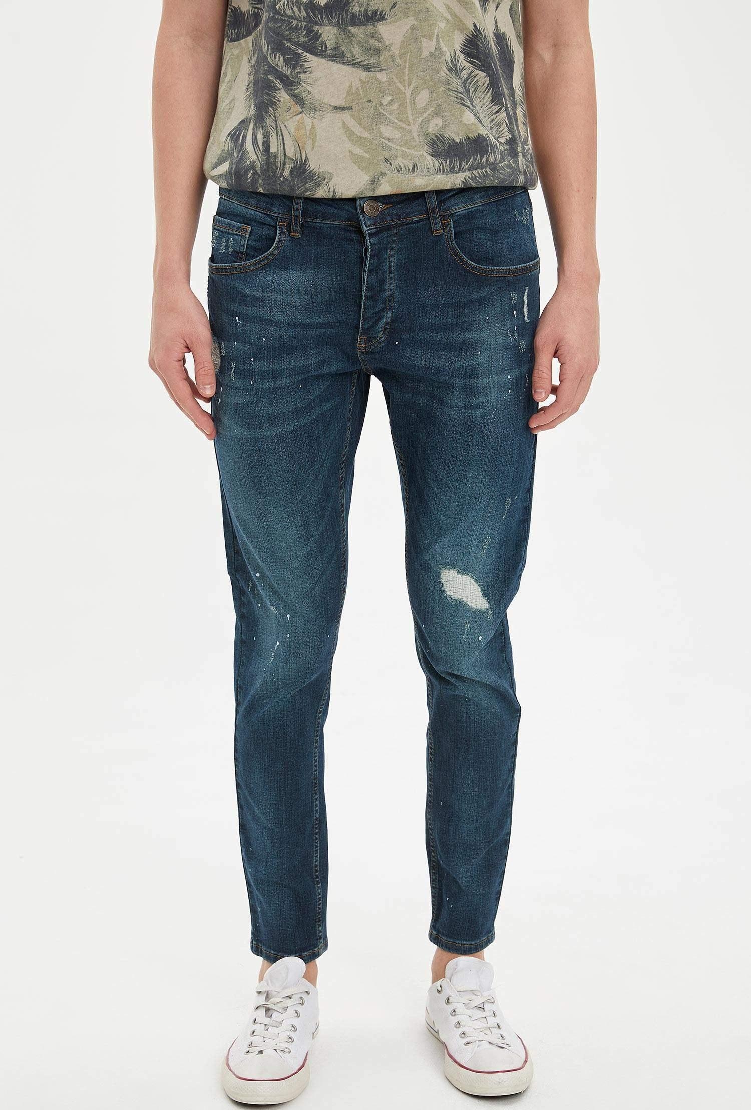 تصویر شلوار جین مخروطی زاپ دار مردانه