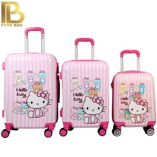 چمدان کودک وارداتی مدل Hello Kitty 2020