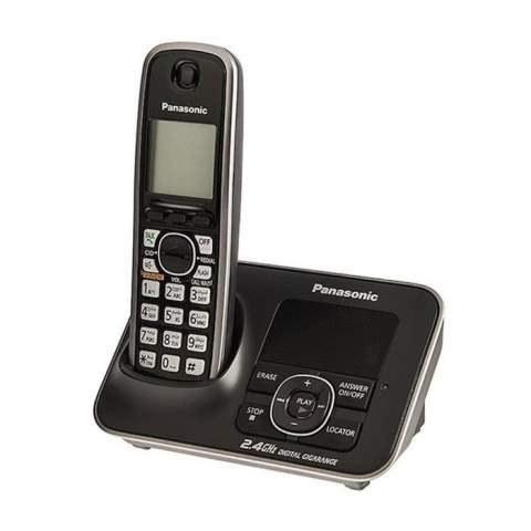 تصویر تلفن بی سیم پاناسونیک مدل KX-TG3721 |مشکی Panasonic KX-TG3721 Wireless Phone