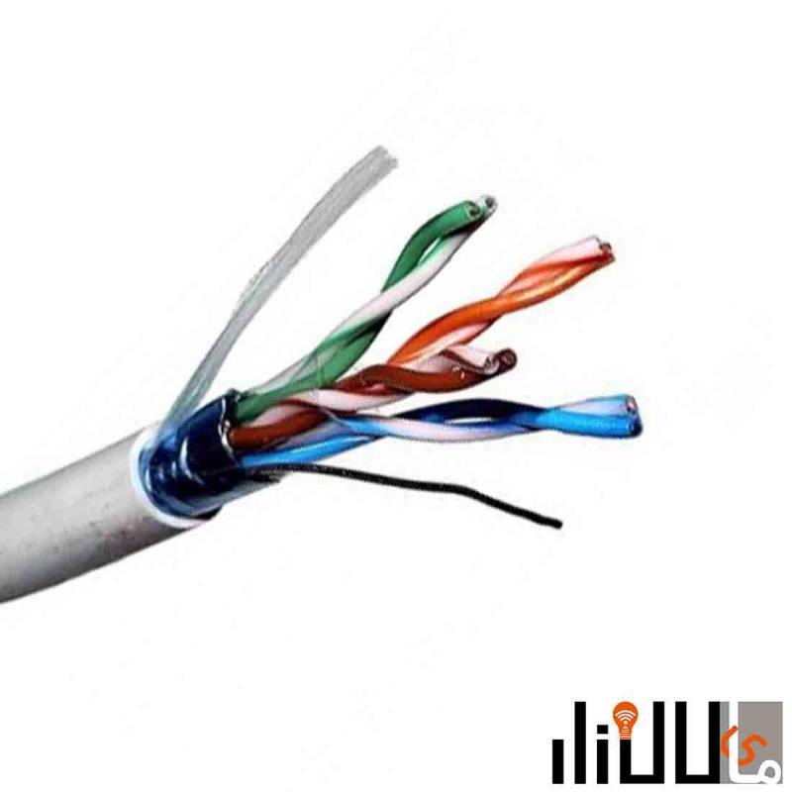 تصویر کابل تلفنی 10 زوج 0.6 هوایی سیمیا (10x2x0.6) Simia