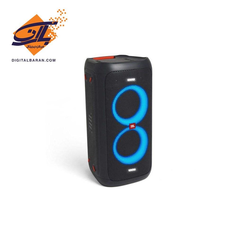 تصویر اسپیکر بلوتوثی قابل حمل جی بی ال مدل Party Box 100 JBL Portable PartyBox100 Multimedia Player