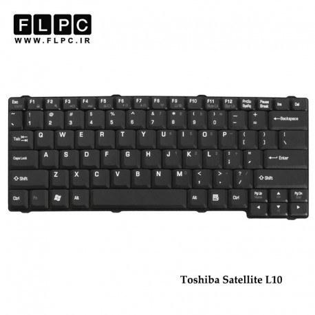 تصویر کیبورد لپ تاپ توشیبا Toshiba Satellite L10 Laptop Keyboard مشکی -بدون پیچ