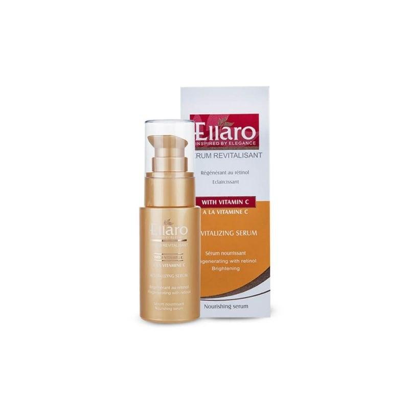 سرم احیا کننده و تغذیه کننده پوست ویتامین C الارو 30 میل | Ellaro Coforter & Nourishing Serume With Vitamin C 30ml
