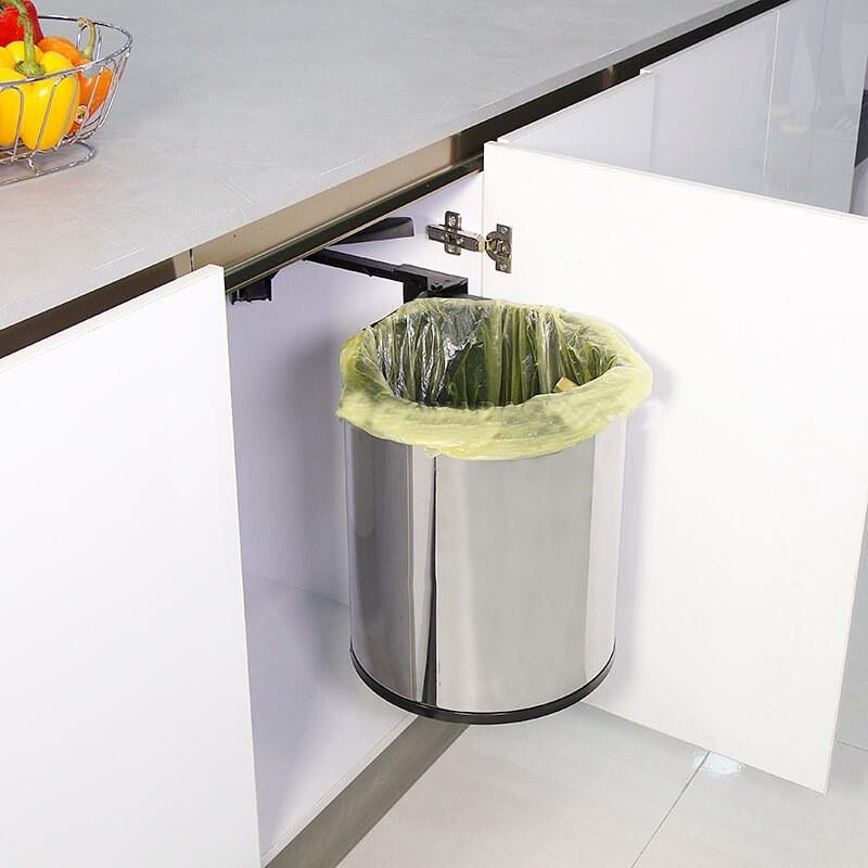 سطل زباله استیل در بازشو مدل A843