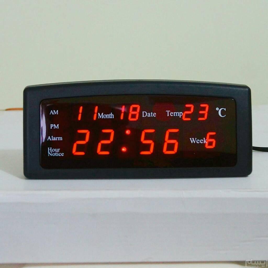 ساعت دیجیتال LED برقی رومیزی مدل 868  نو و آکبند |
