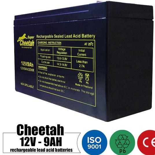 main images باتری شارژی 12 ولت 9 آمپر CHEETAH مدل 12V9AH Rechargeable battery 12 volt 9 Amps CHEETAH model 12V9AH