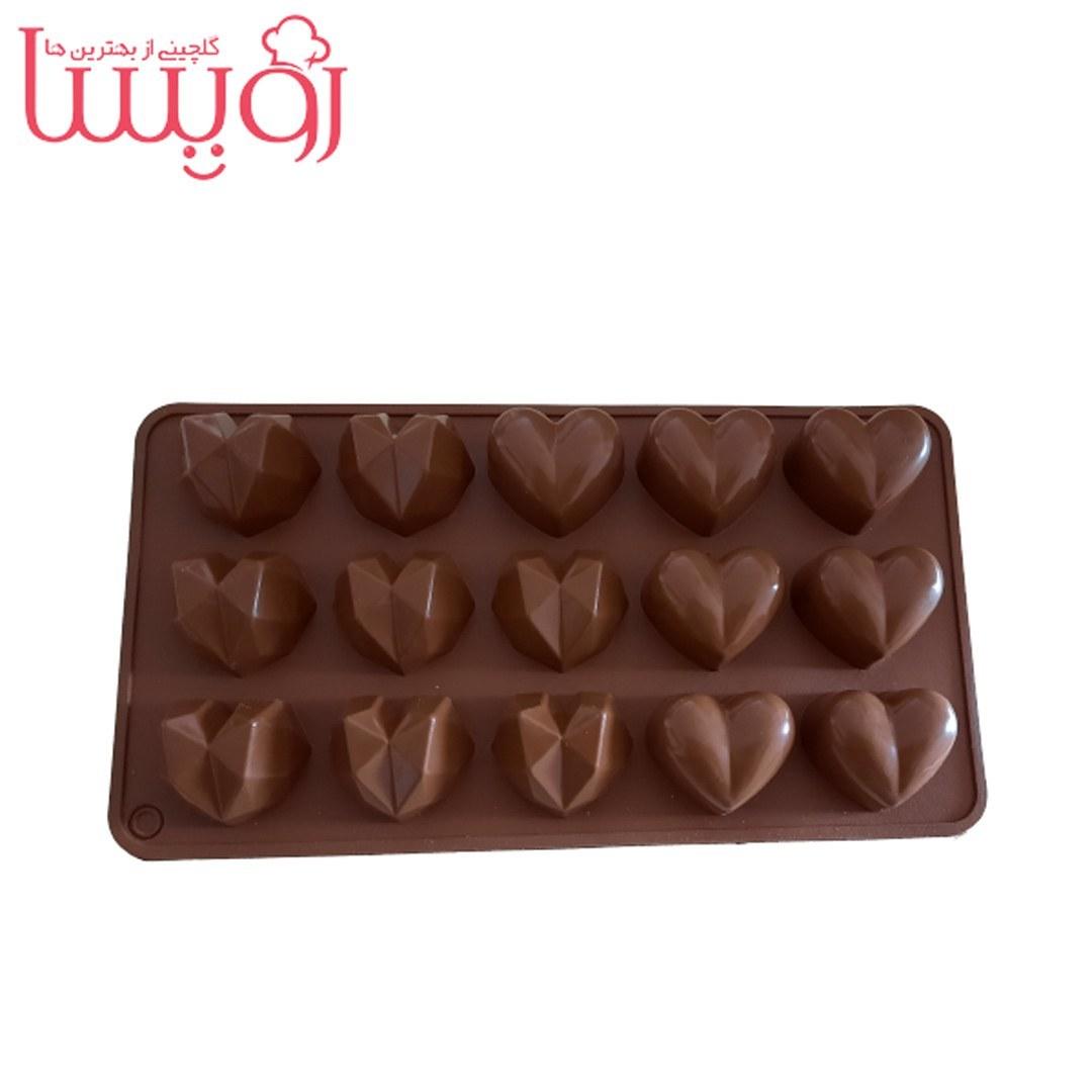 تصویر قالب سیلیکونی شکلات  طرح قلب