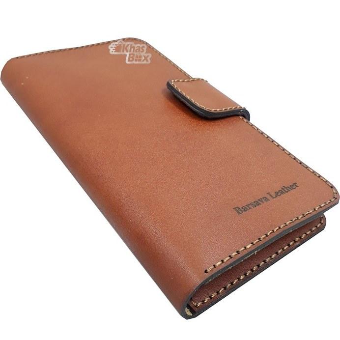 تصویر کیف پول مردانه چرم دست دوز مدل LW-21 Barsava Leather Wallet LW-21