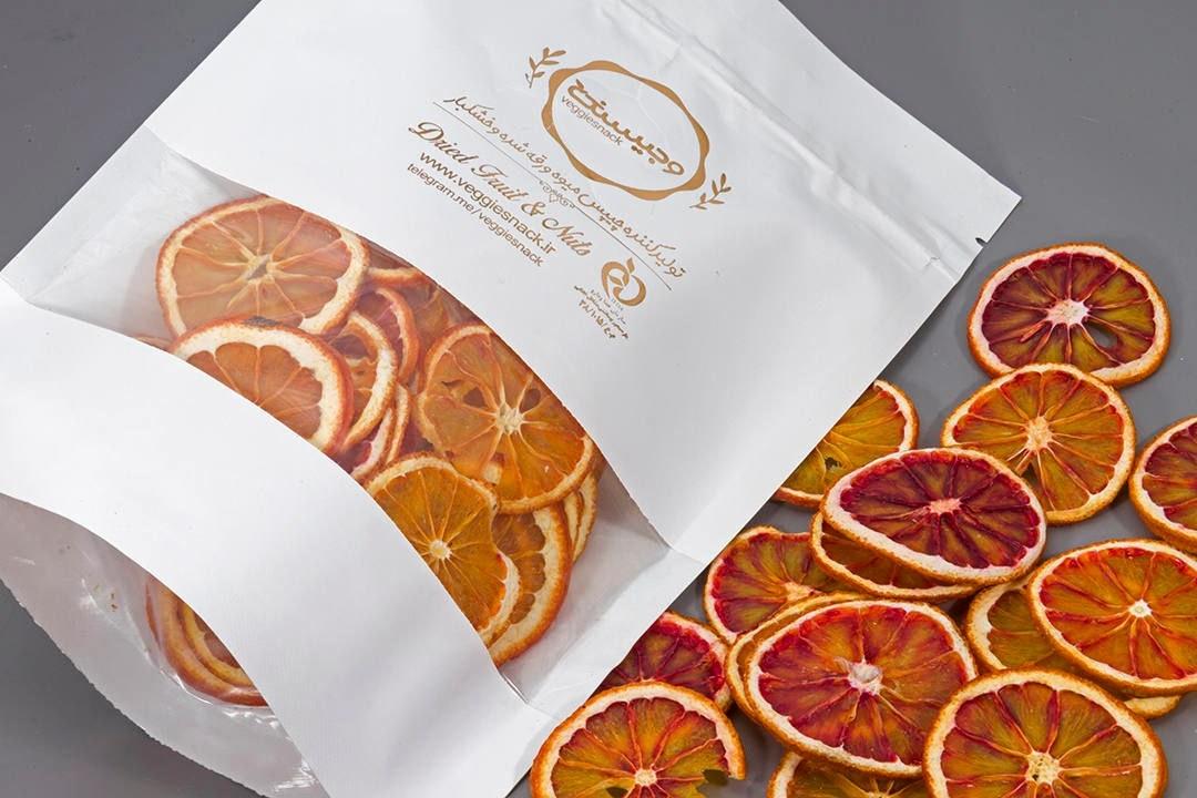 تصویر چیپس میوه خشک پرتقال خونی