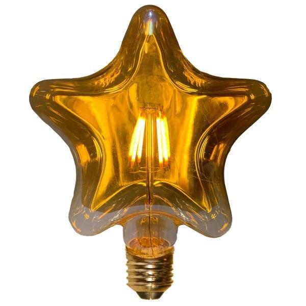 تصویر لامپ ادیسونی ۴۰ وات طرح ستاره ای پایه E27