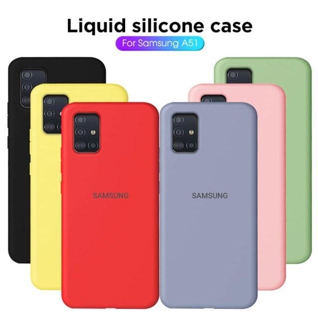 قاب سیلیکونی Samsung Galaxy A51 سیلیکونی زیر بسته