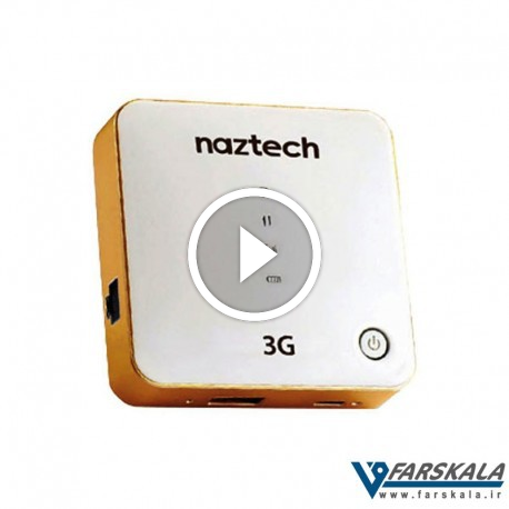 تصویر مودم بی سیم و پاور بانک نزتک مدل Naztech NZT-7730 3G Router Wi-Fi Hotspot and Powerbank
