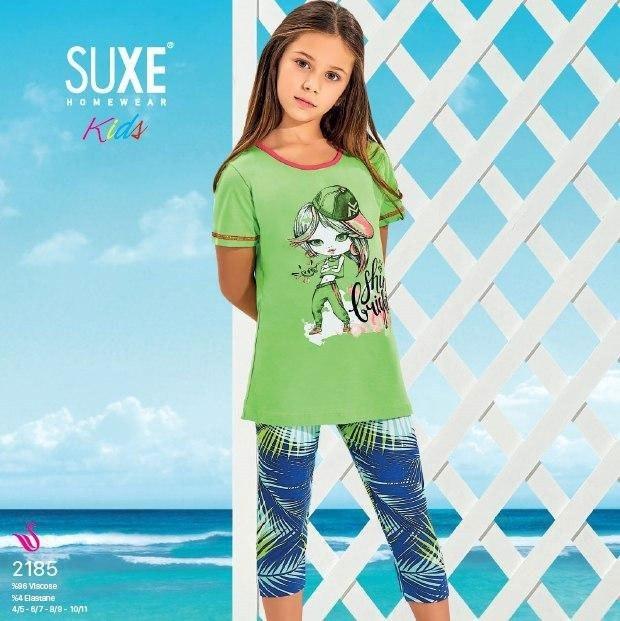 تصویر تی شرت شلوارک  دخترانه ترک - 2185 SUXE