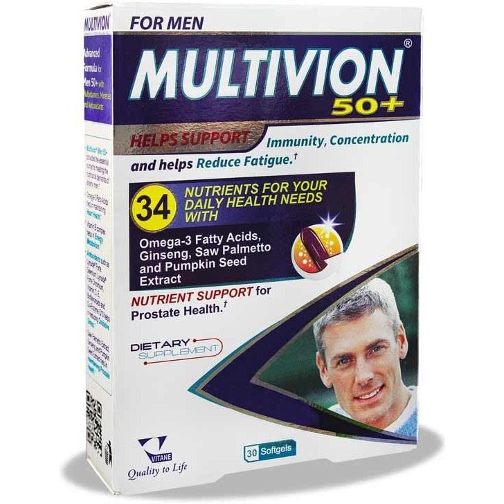 کپسول مولتی ویون برای مردان 50+