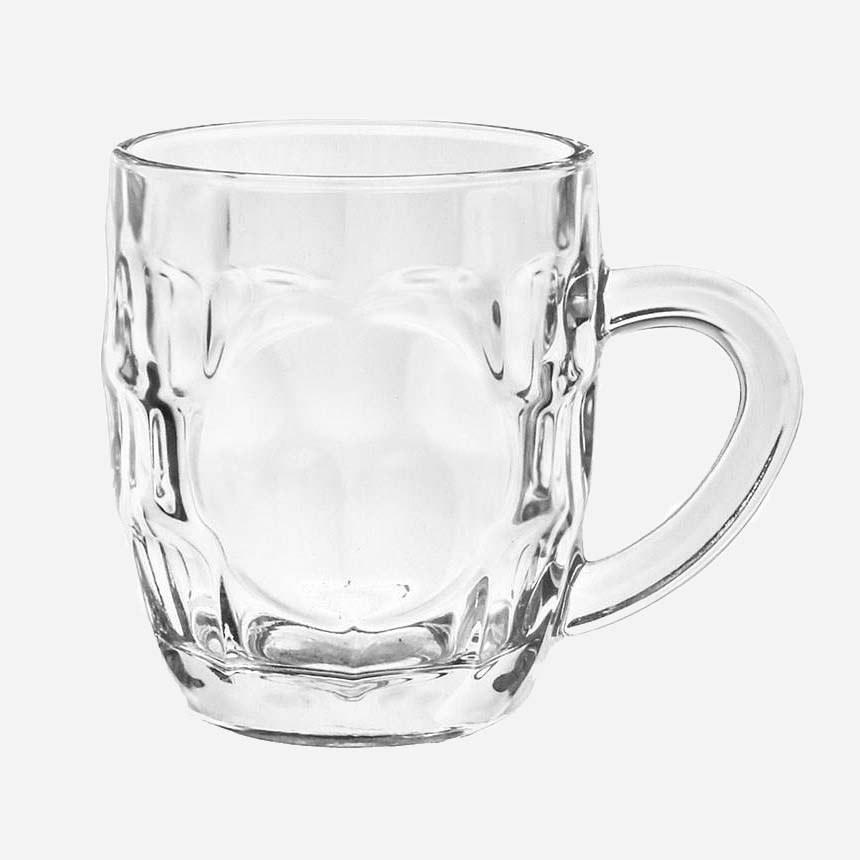 تصویر لیوان دسته دار بشکه ای عینکی کوچک لومینارک Luminarc