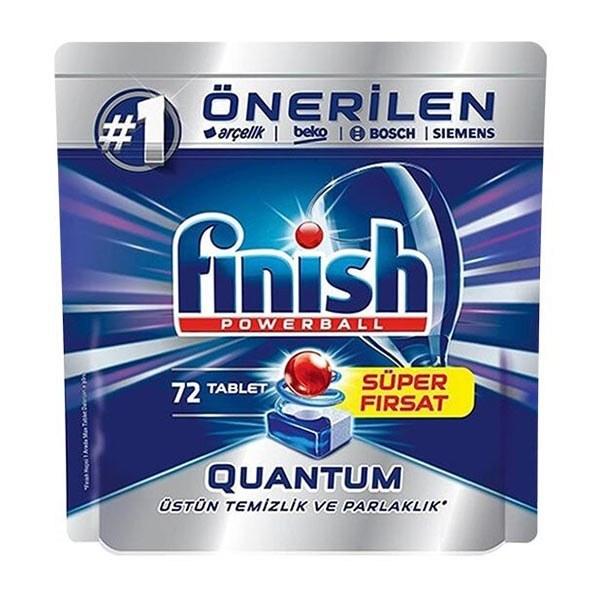 تصویر قرص ماشین ظرفشویی فینیش Quantum بسته 72 عددی