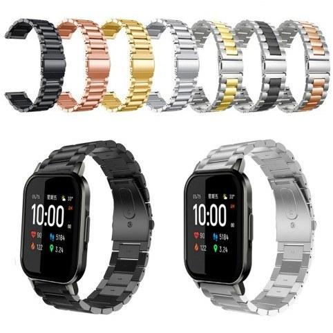 تصویر بند استیل رولکسی ساعت هوشمند شیائومی مدل Haylou LS02 Stailess Steel Chain Strap Watchband For Xiaomi Haylou LS02
