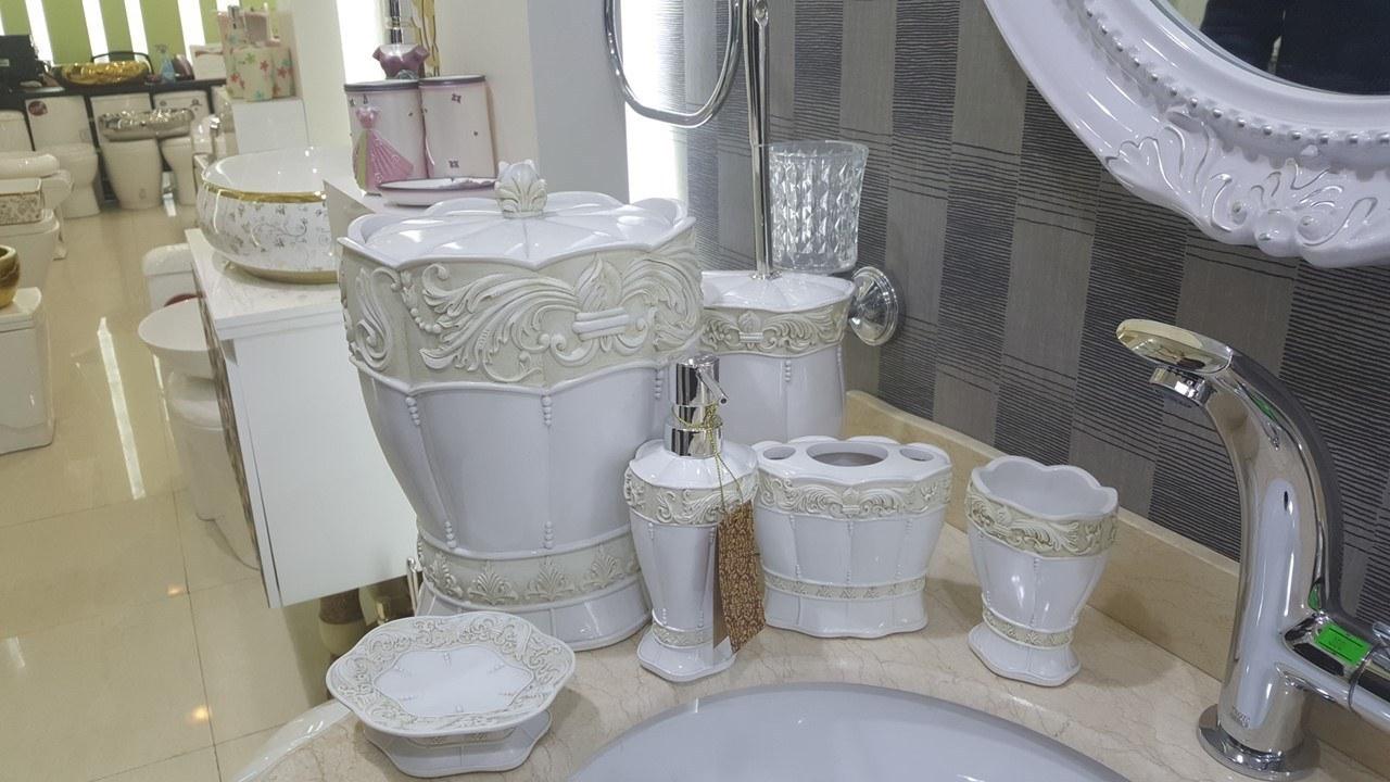اکسسوری حمام و دستشویی 6 پارچه کنتراست  مدل  6029  