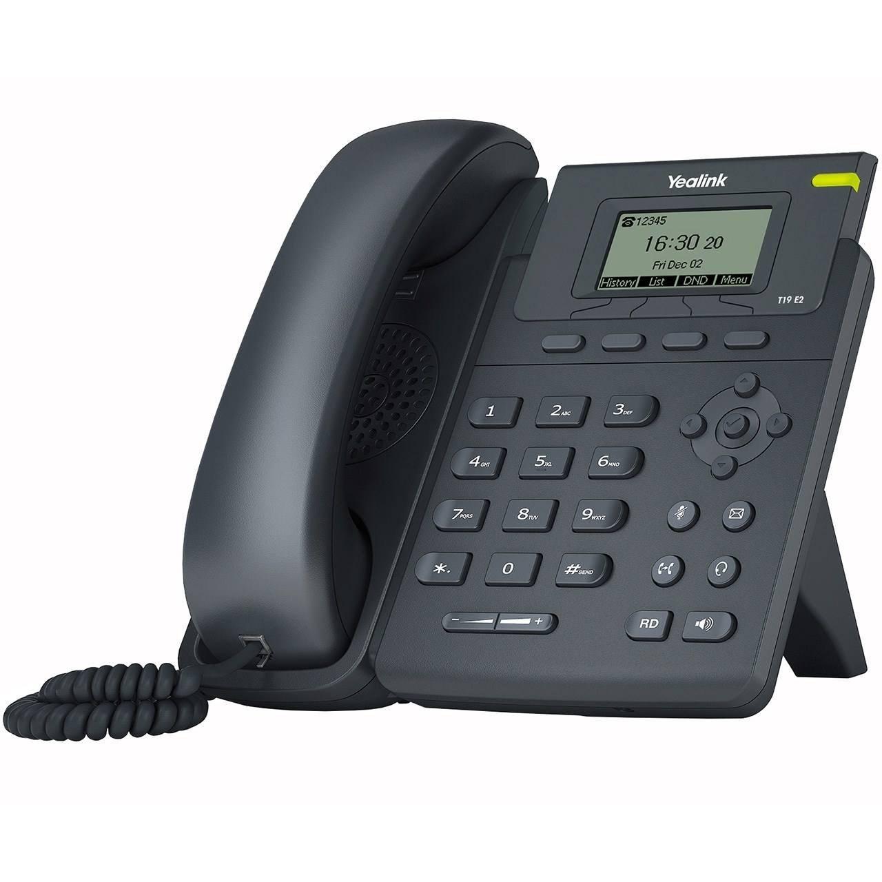تصویر تلفن تحت شبکه یالینک مدل SIP T19  Yealink SIP T19  IP Phone