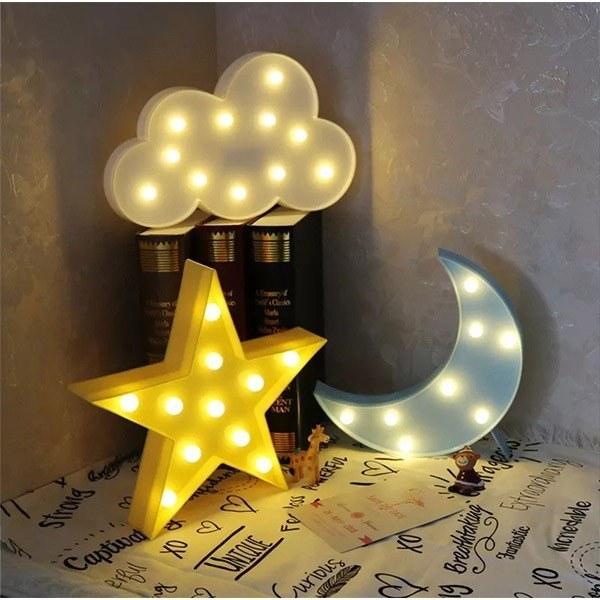چراغ خواب فانتزی ماه و ستاره و ابر