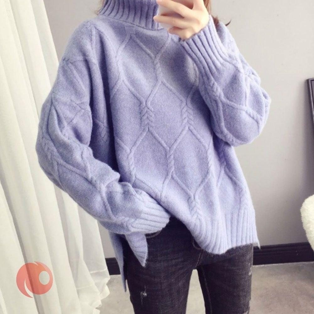 بافت زنانه آستین بلند Hengyuanxiang مدل Slim