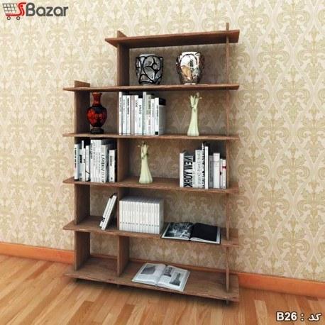 کتابخانه چوبی ترکیبی چهار + پنج خانه |
