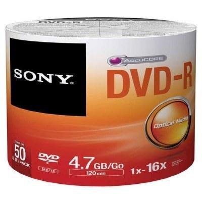تصویر دی وی دی خام سونی Sony پک 50 عددی