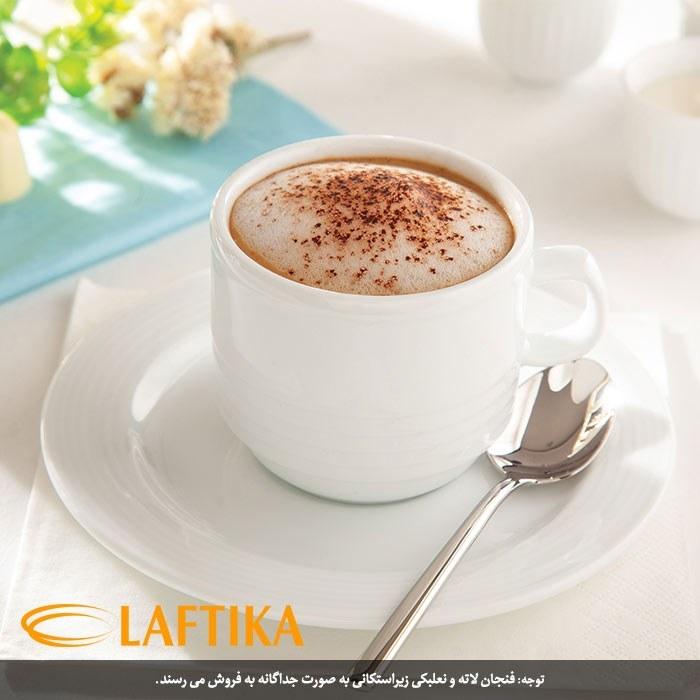 تصویر چینی زرین فنجان قهوه 180 سی سی سفید