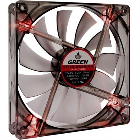 فن گرین 120mm Turbo LED | Case Fan GREEN 120mm Turbo LED
