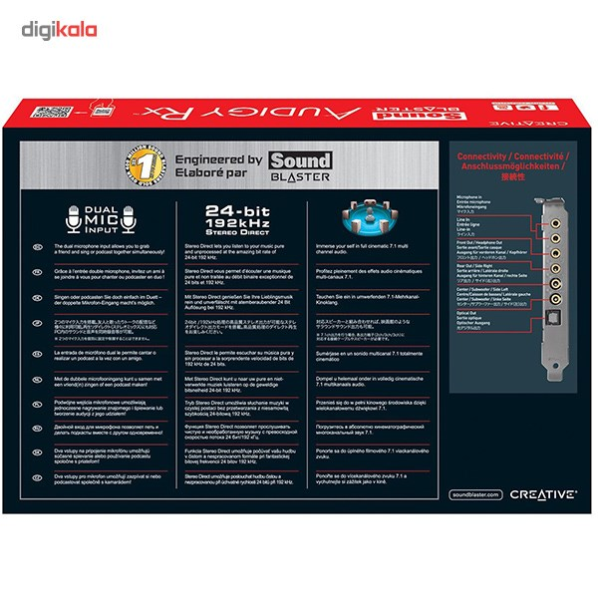 تصویر کارت صدا کریتیو مدل Sound Blaster Audigy Rx Creative Sound Blaster Audigy Rx Sound Card