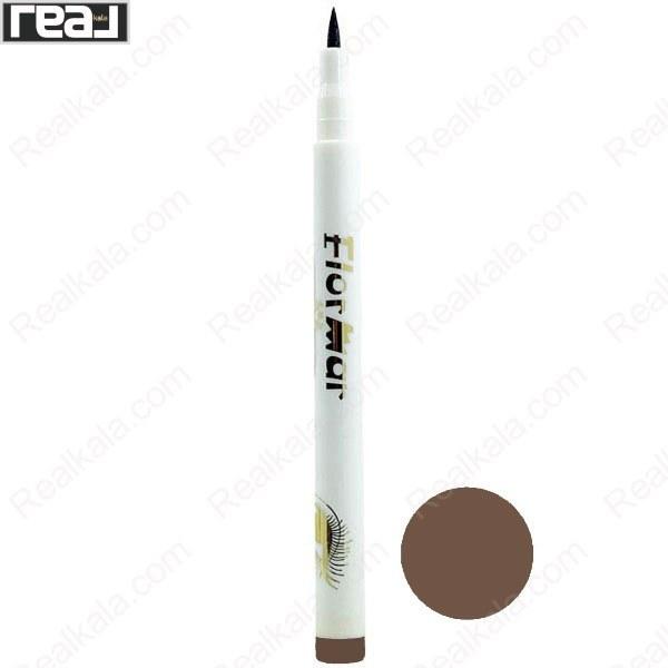 تصویر ماژیک ابرو 48 ساعته فلورمار شماره 02 Flormar Waterproof Eyeliner Pen