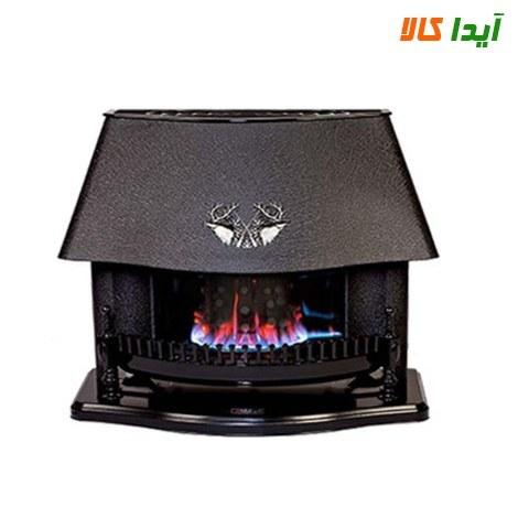 تصویر بخاری گازی نیک کالا طرح قوسی مدل MC110 Nicala fireplace arched design model MC110