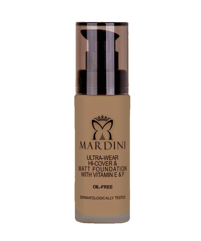 تصویر کرم پودر مات ماردینی Ultra Wear-Mardini مدل warm bisque کد307 حجم 30 میلیلیتر