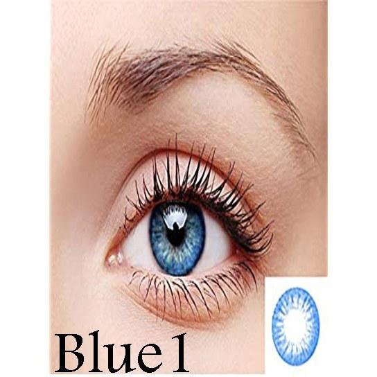 تصویر لنز رنگی چشم آبی لاکی لوک مدل Blue 1