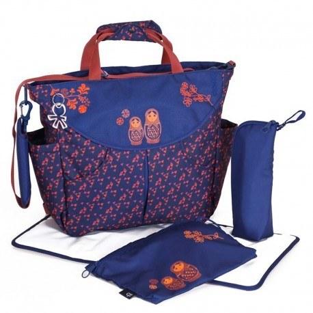 عکس ساک لوازم نوزاد اوکی داگ مدل سومو آبی سرمه ای Okiedog  ساک-لوازم-نوزاد-اوکی-داگ-مدل-سومو-ابی-سرمه-ای-okiedog