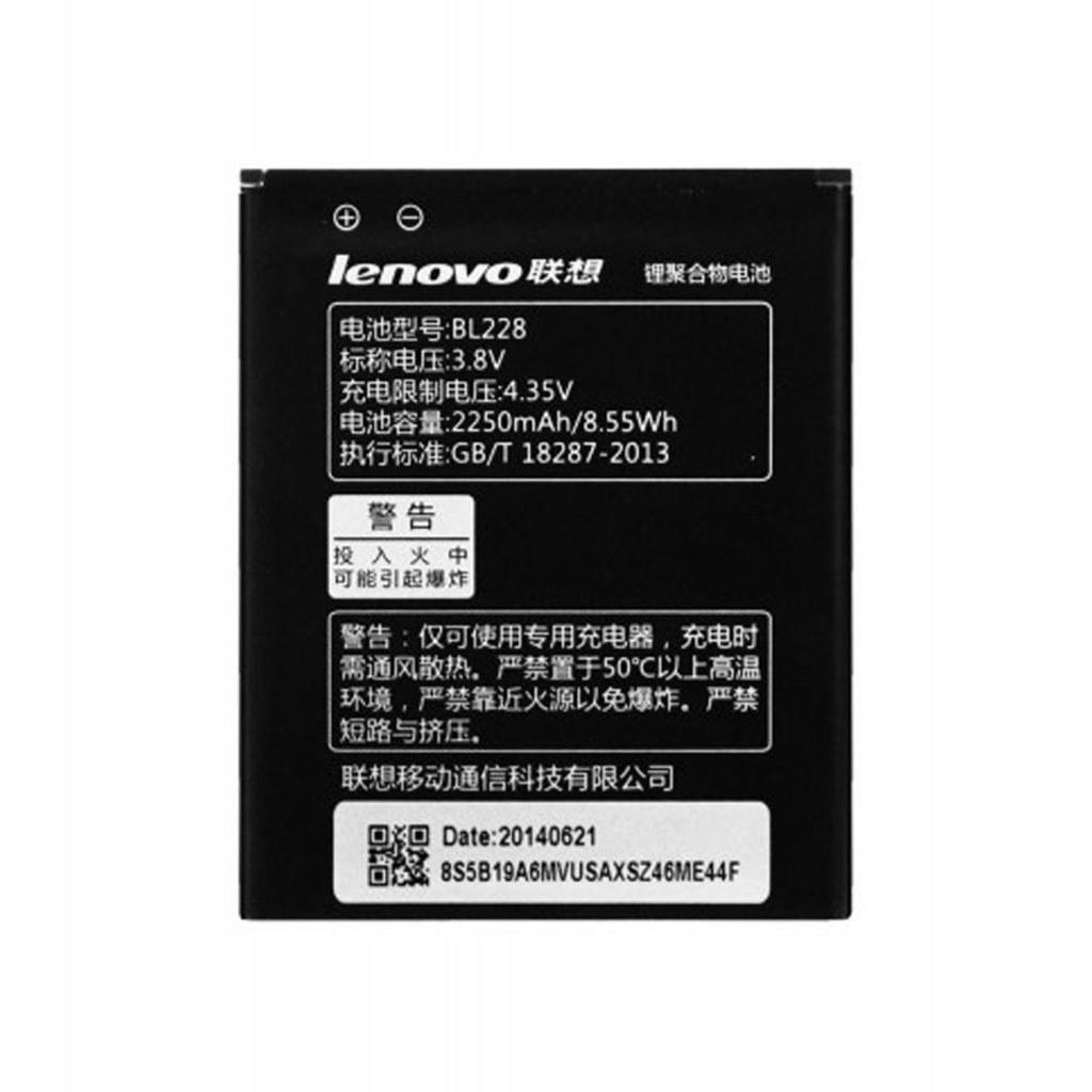 تصویر باتری اورجینال لنوو BL228 ظرفیت 2250 میلی آمپر ساعت Lenovo BL228 2250mAh Original Battery