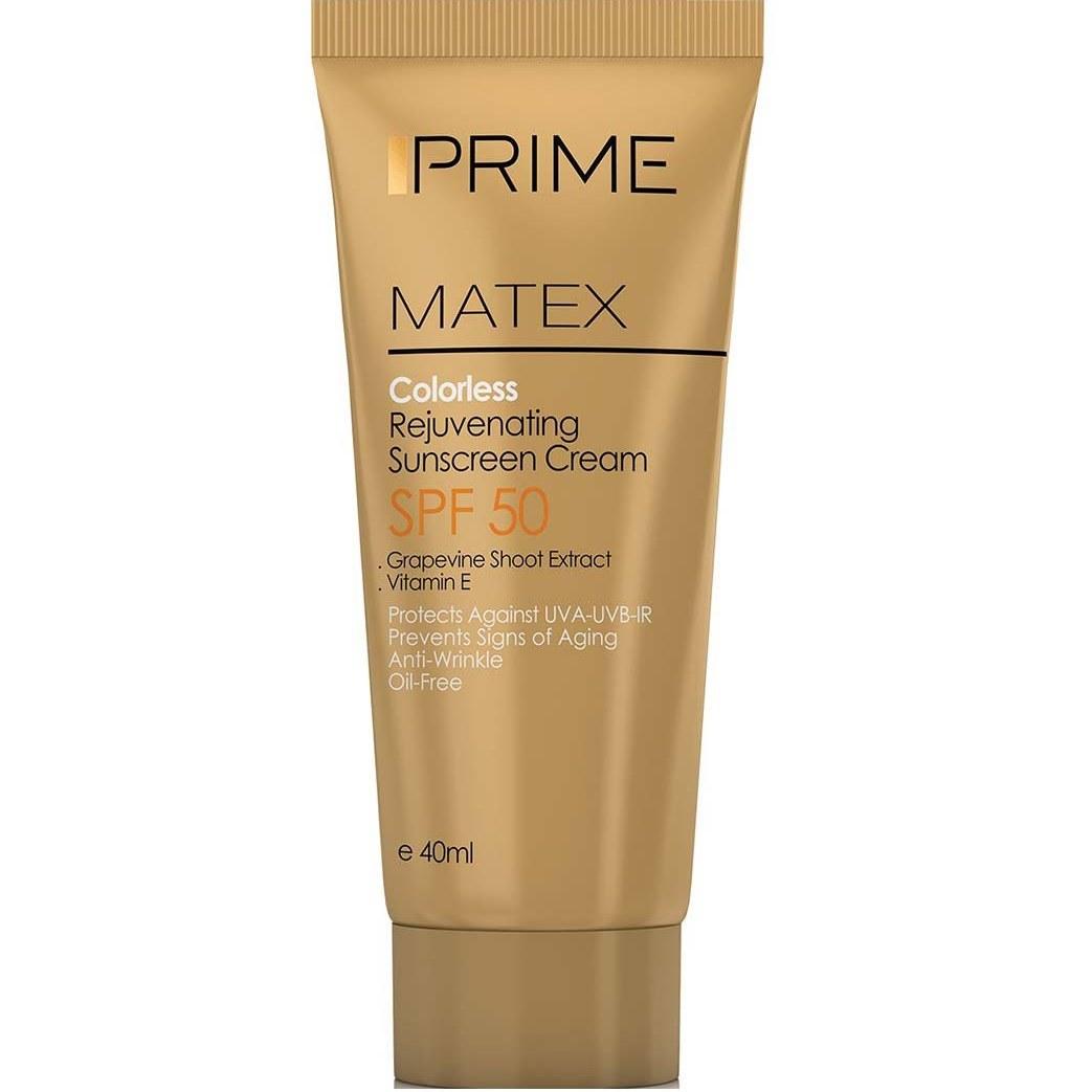 کرم ضد آفتاب جوان کننده  اس پی اف 50پریم | prime colorless rejuvenating sunscreen cream