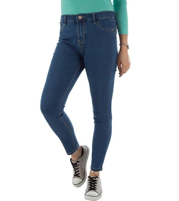 شلوار زنانه جین فاق بلند جین وست Jeanswest